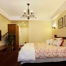 70平米美式小户型卧室装修图片欣赏