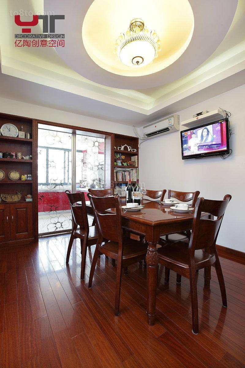 2018精选71平米中式小户型餐厅欣赏图