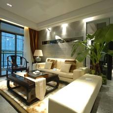 2018面积131平别墅客厅中式装修设计效果图片大全