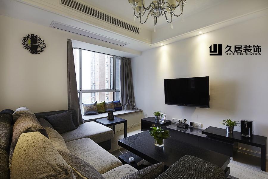 簡單家裝客廳電視背景墻效果圖