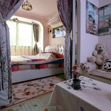 81平米田园小户型卧室装饰图片