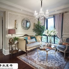 201889平米二居客厅欧式装修图