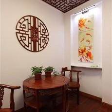 中式风格小餐厅红木餐桌效果图