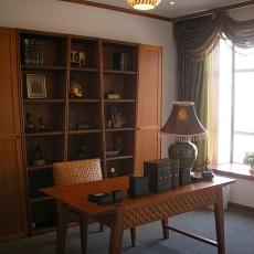 东南亚风格书房实木家具图片欣赏