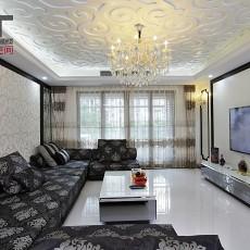现代欧式客厅装修效果图大全2013图片