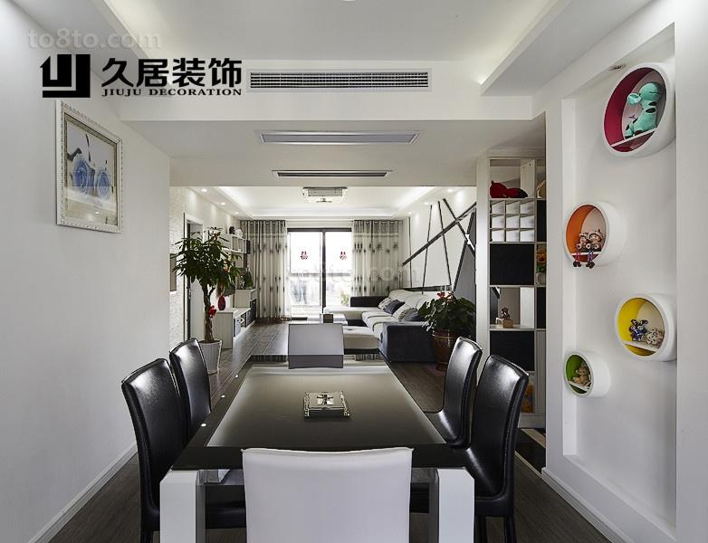 现代餐厅装修墙上装饰图片