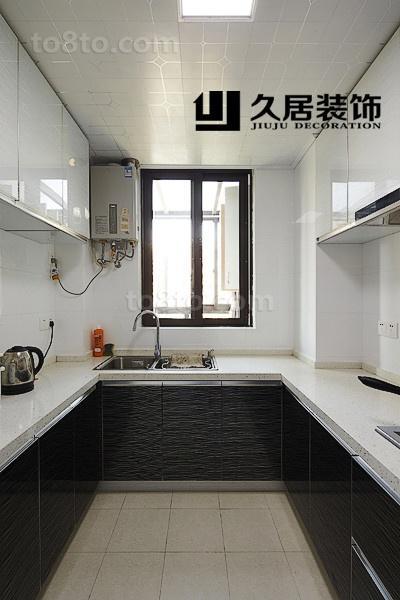 现代简约U型厨房橱柜效果图