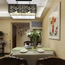 新中式小餐厅吊灯效果图