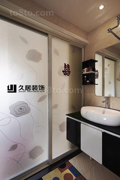现代洗手间装修效果图大全