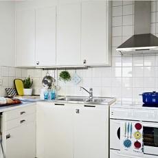 简约小型开放式厨房装修效果图