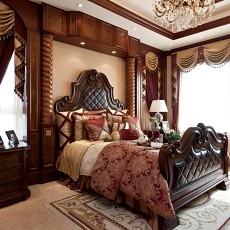 精美136平方美式别墅卧室装修实景图