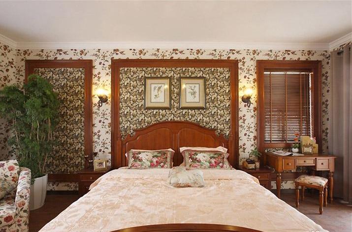 美式田园卧室装修效果图欣赏