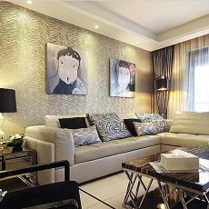 热门80平方二居客厅现代装修图片大全
