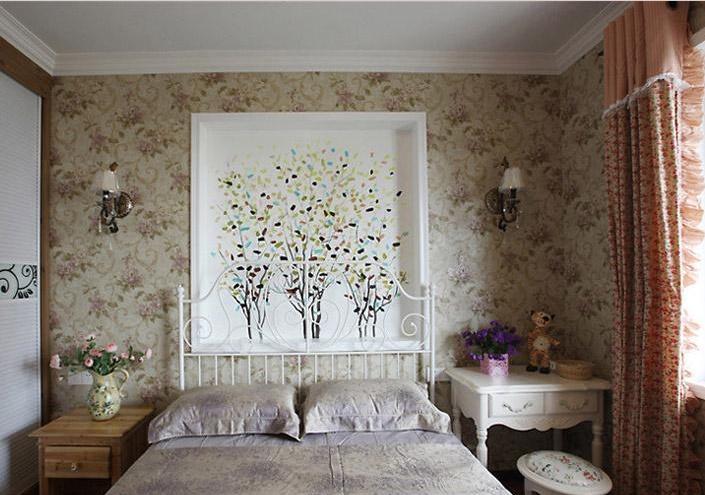 次卧室床头背景墙效果图