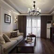 面积93平美式三居客厅欣赏图