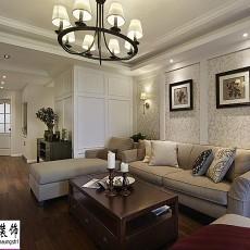 精美105平米三居客厅美式装修图