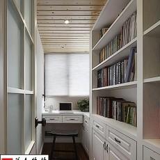 热门面积104平美式三居书房实景图片