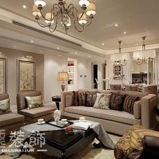 2018面积90平欧式三居客厅装饰图片大全