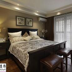 热门102平米三居卧室美式效果图片大全