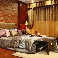 125平米东南亚别墅卧室装修设计效果图