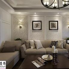 面积109平美式三居客厅装修设计效果图