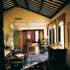 精美面积113平别墅客厅中式装修实景图