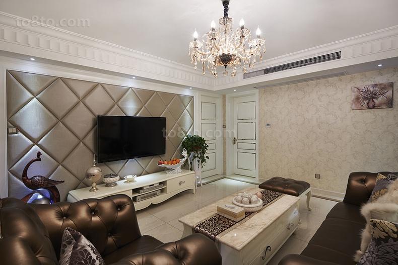 客厅硬包电视背景墙装修效果图大全