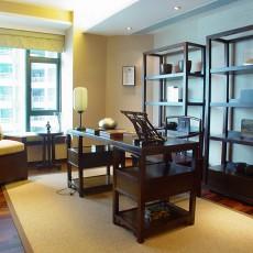 简中式书房装修效果图片