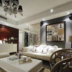 90平米二居客厅欧式装修设计效果图片