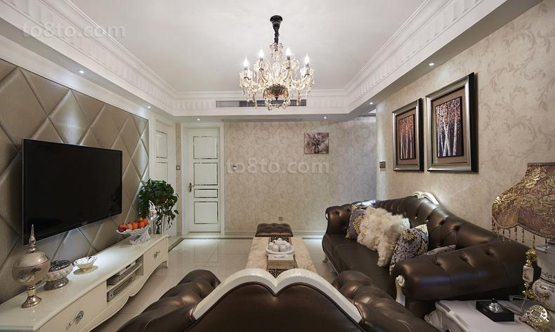 现代欧式客厅水晶灯效果图片