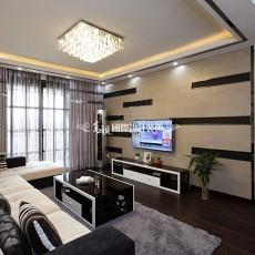 77平米二居客厅现代装修设计效果图片