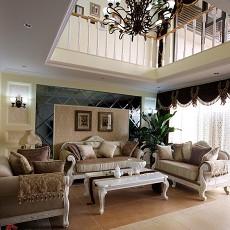 别墅欧式客厅装修效果图大全2013图片