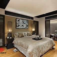 现代中式大卧室装修效果图欣赏