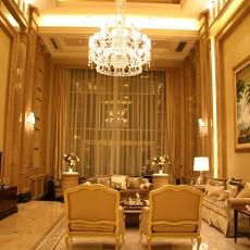 热门133平方欧式别墅客厅装修设计效果图片大全