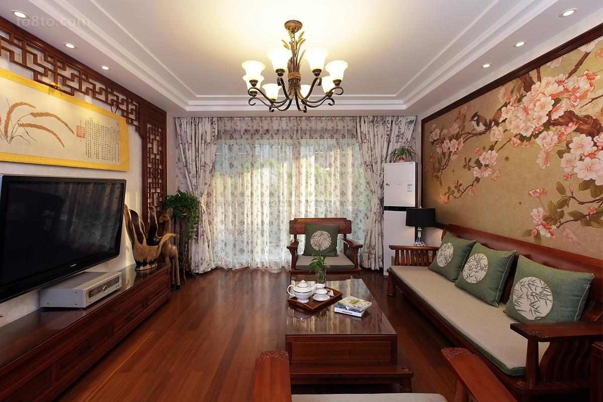 中式客厅吊顶灯效果图