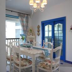 清新地中海风格餐厅装修图片