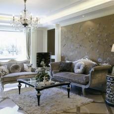 大小88平欧式二居客厅装修设计效果图片