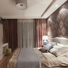 2018精选面积86平美式二居卧室装修效果图片大全