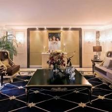 2018精选面积110平别墅客厅欧式装修实景图片