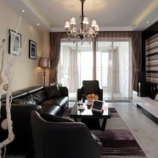 精选大小87平现代二居客厅效果图片