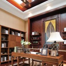 简约东南亚风格书房装修效果图大全