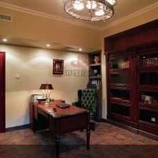 纯美式风格书房装修效果图