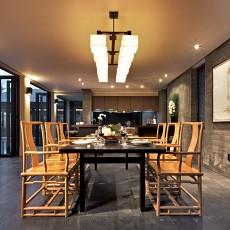 精选142平米中式别墅餐厅效果图片大全