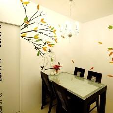精美74平米二居餐厅现代装修实景图片欣赏