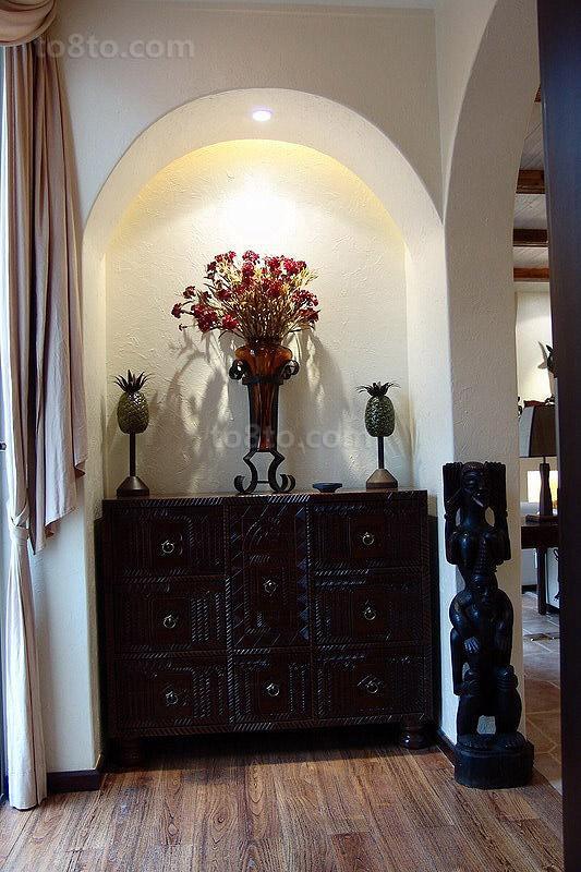古典门厅柜装修效果图