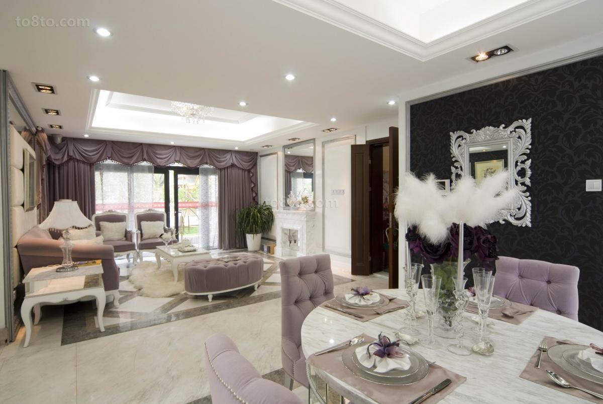 精美面积90平欧式二居休闲区装饰图片