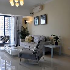 2018精选面积74平现代二居客厅实景图