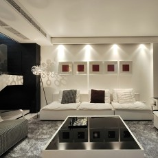 热门现代复式客厅装修图片大全