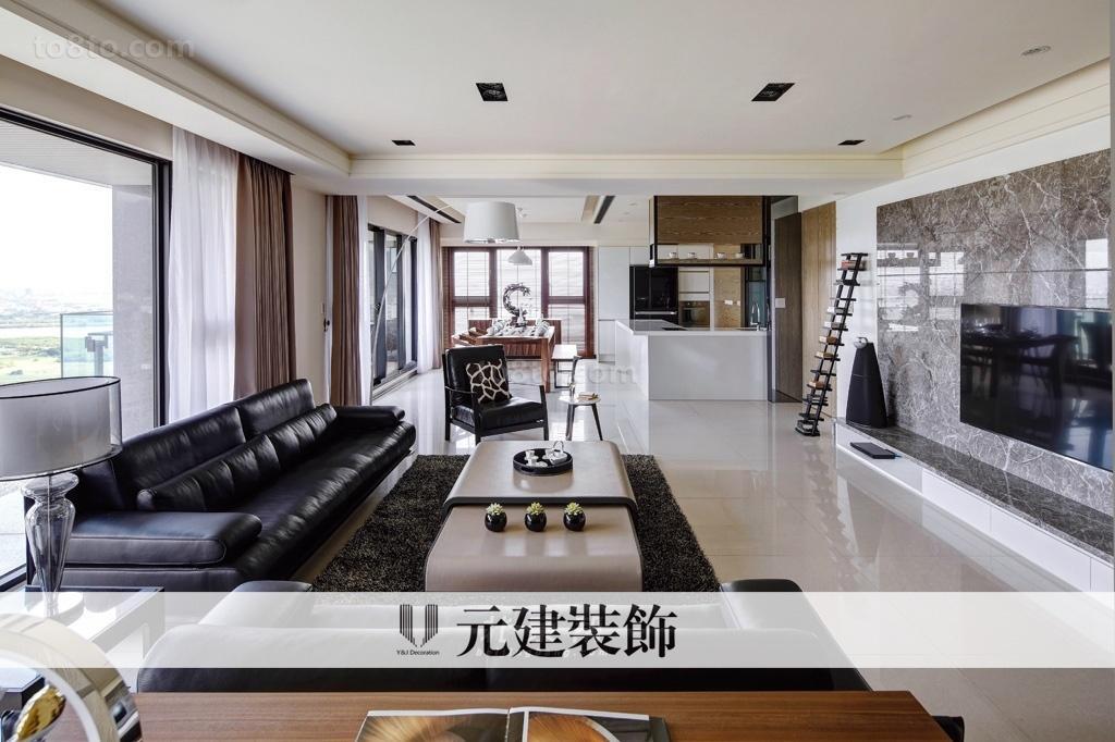 现代四居大客厅沙发茶几装修效果图