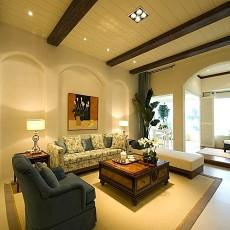 精美面积90平美式二居客厅装饰图